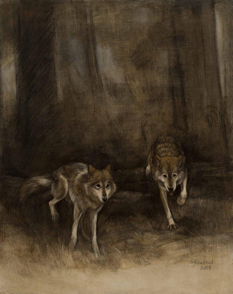 """Companions Study, 2018. Graphite & oil on art board, 10x8"""". Sold"""
