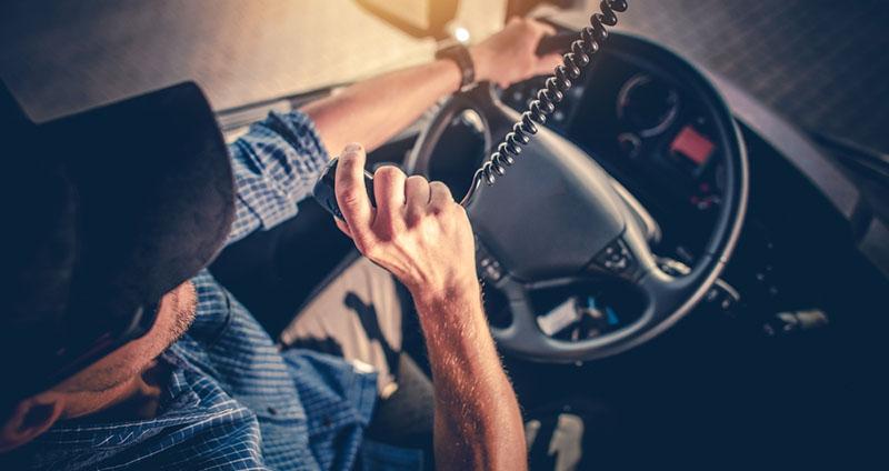 Wisconsin truck driver using radio