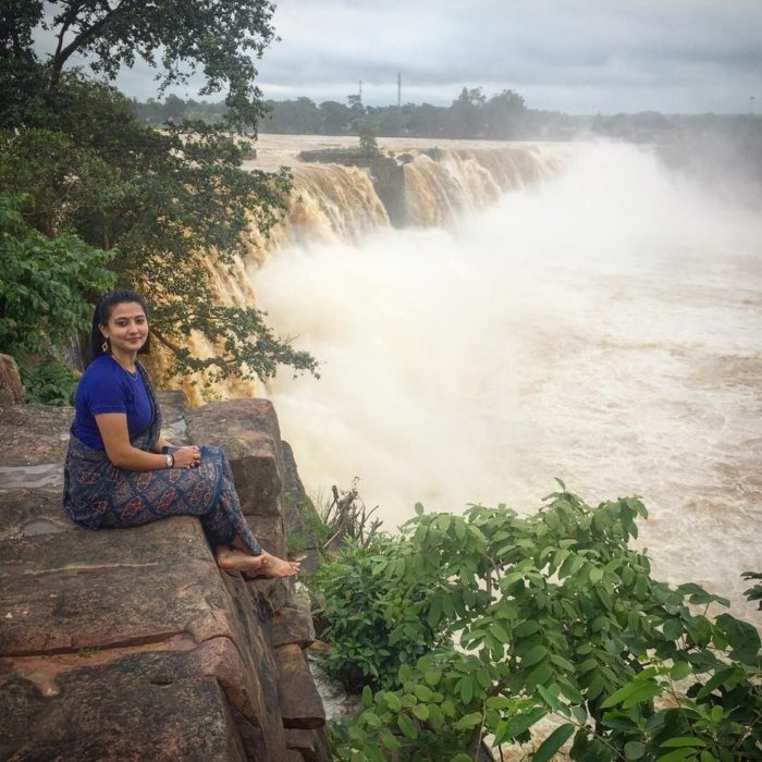 Sitting beside Chitrakote Waterfall, a.k.a. the Niagara of India, which is the most famous waterfall of Chhattisgarh. One of the reasons why you should travel to Chhattisgarh.