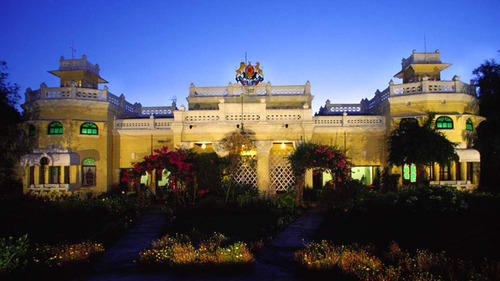 An evening at the heritage property Kanker Palace, Kanker, Chhattisgarh.