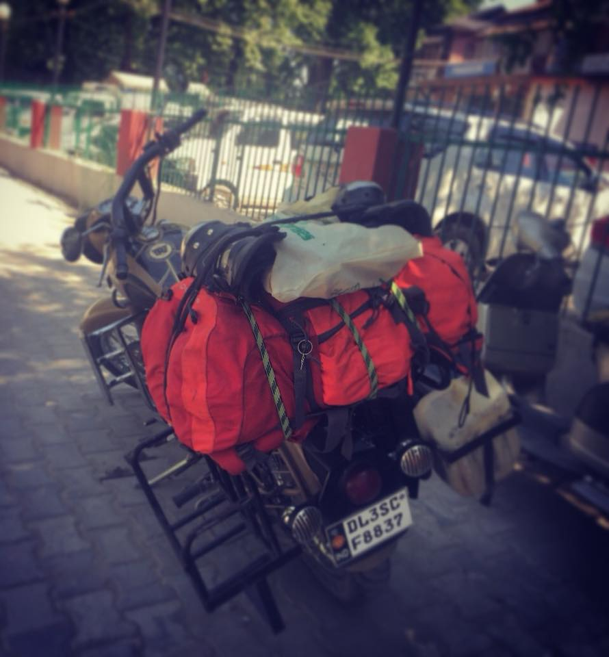 Bike all set for the epic adventure in Kashmir.