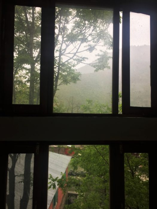 Misty evenings and morning due to rains in Karnah region.