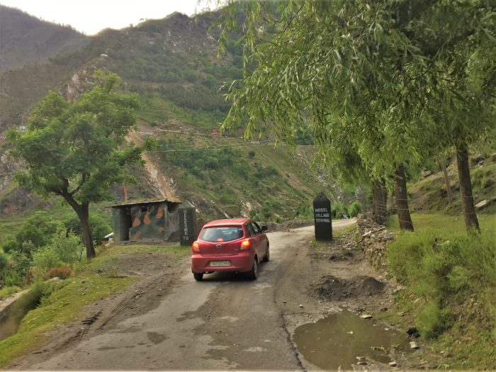 Entering Teetwal, the last village on the North-West corner of Kashmir where tourists can go.
