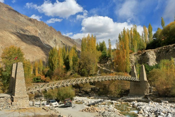 A beautiful bridge that connects the lower region of Turtuk near the Shyok river with the upper region of the village.