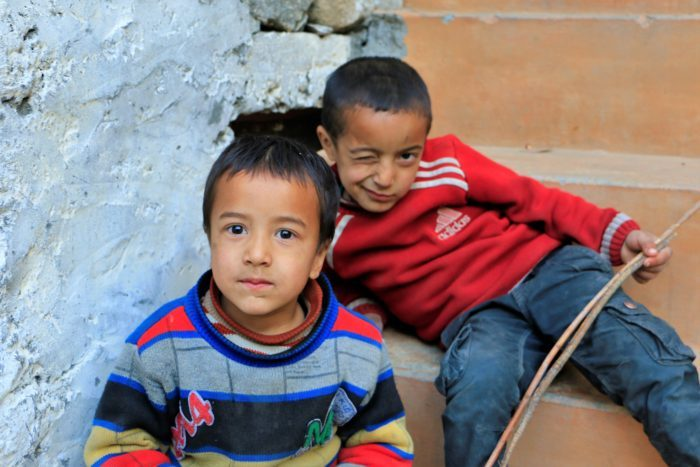 Local kids in Turtuk are quite open and friendly with tourists.