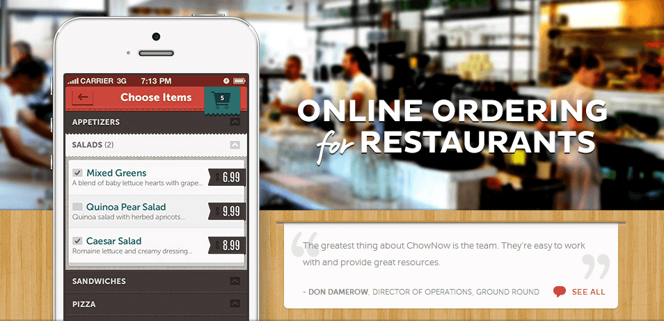 ChowNow Restaurant App