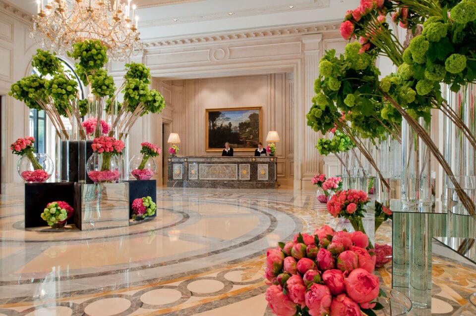 Spring blooms at Four Seasons Hotel George V Paris