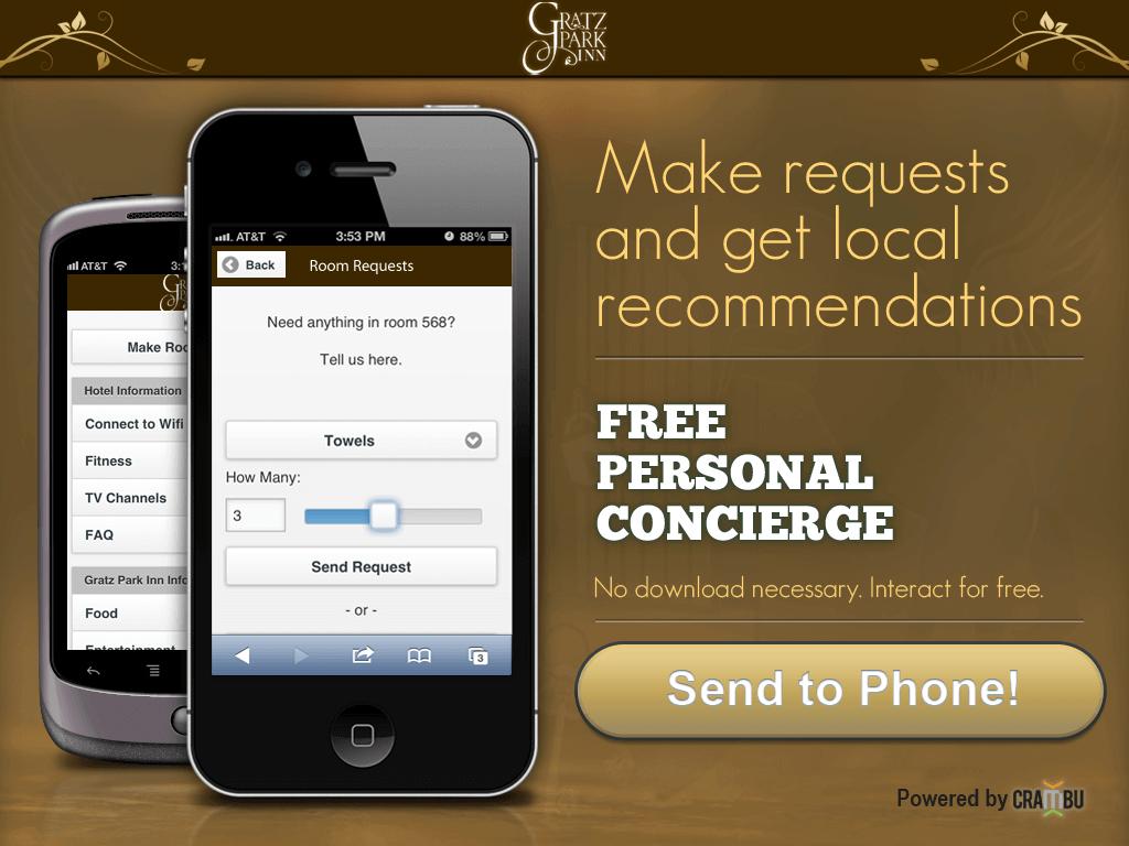 Hotel Concierge on iPad