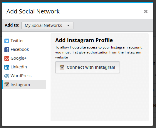 add instagram