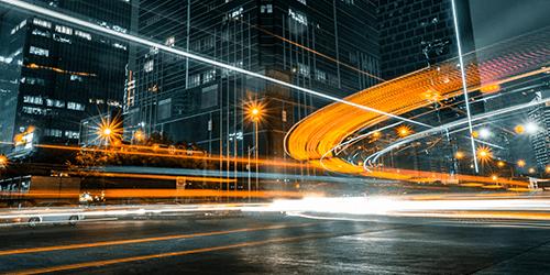 City traffic at night.