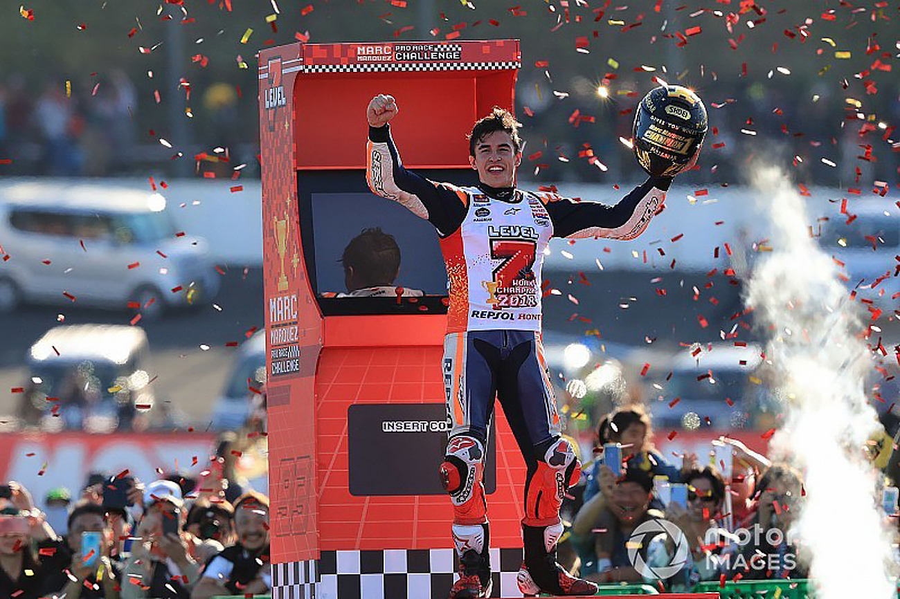 Marc Marquez wins in Japan and takes the 2018 World Championship