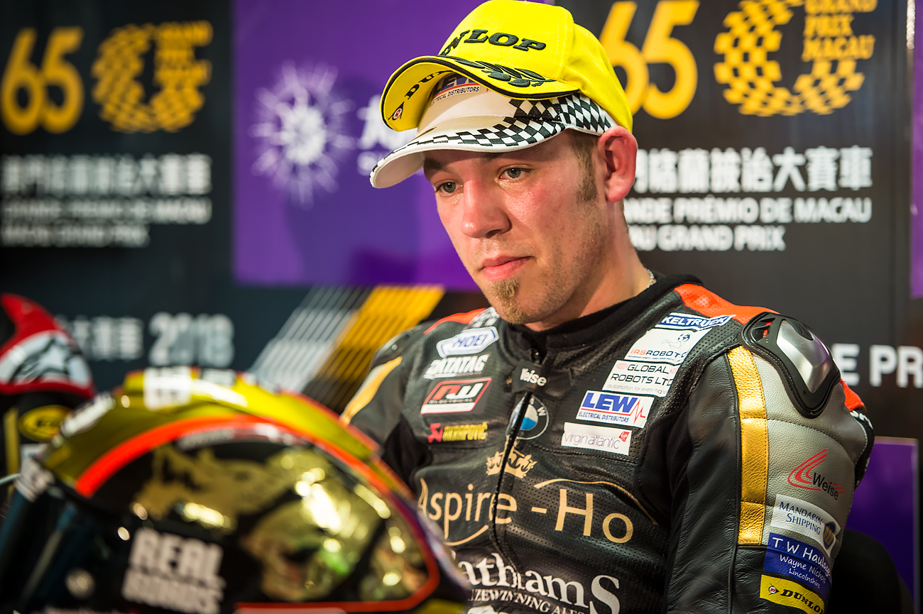 Peter Hickman after qualifying at the MacauGP 2018