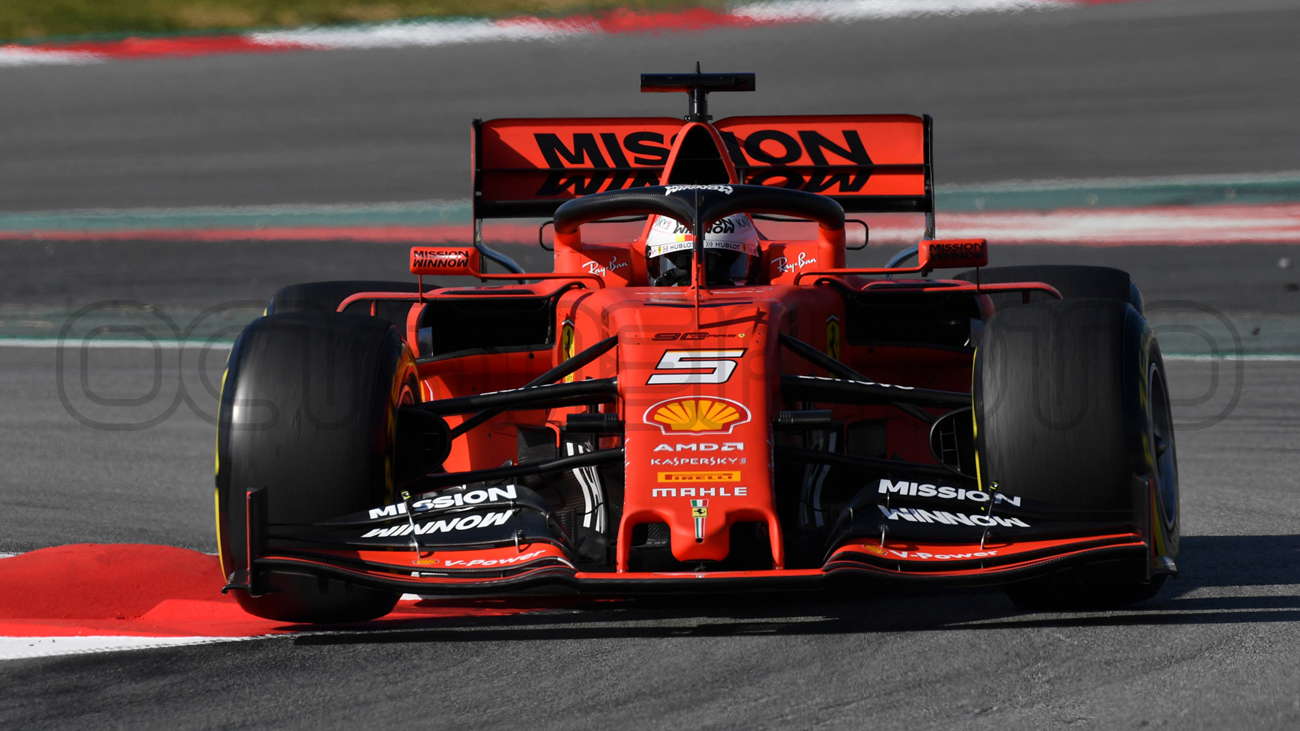 Sebastian Vettel during Winter Testing, Circuit de Barcelona 2019