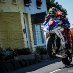 Peter Hickman practices for the Senior TT Race