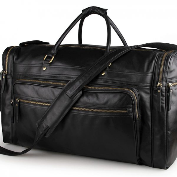 cow leather tote mens duffle travel bag