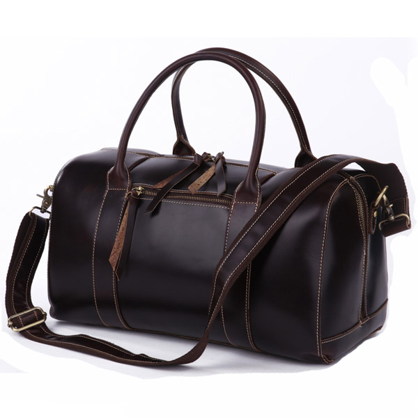 Leather Duffle Travel Bag