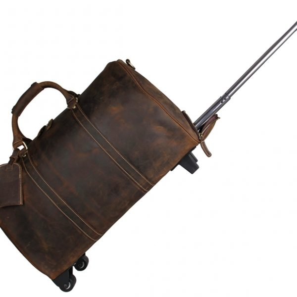 Leather Travel Tote Trolley Dispatch Bag