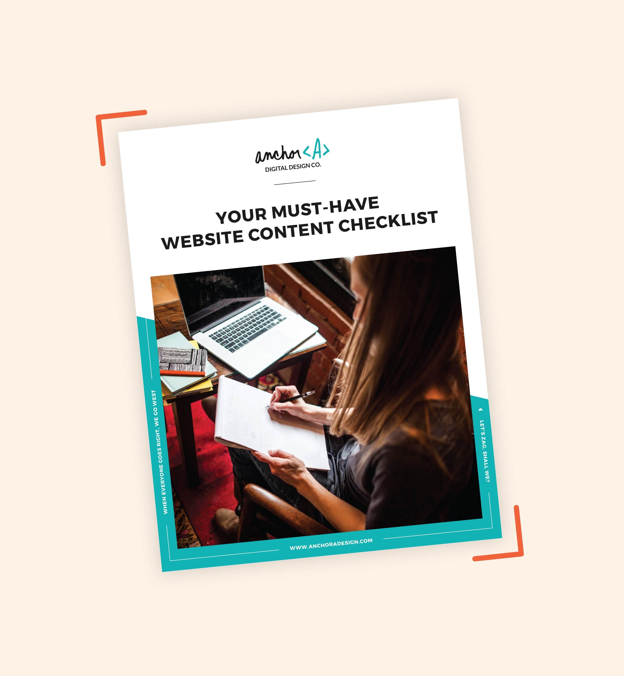 Freebie: Your Must-Have Website Content Checklist