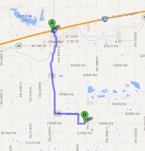 Chandler Exit Map