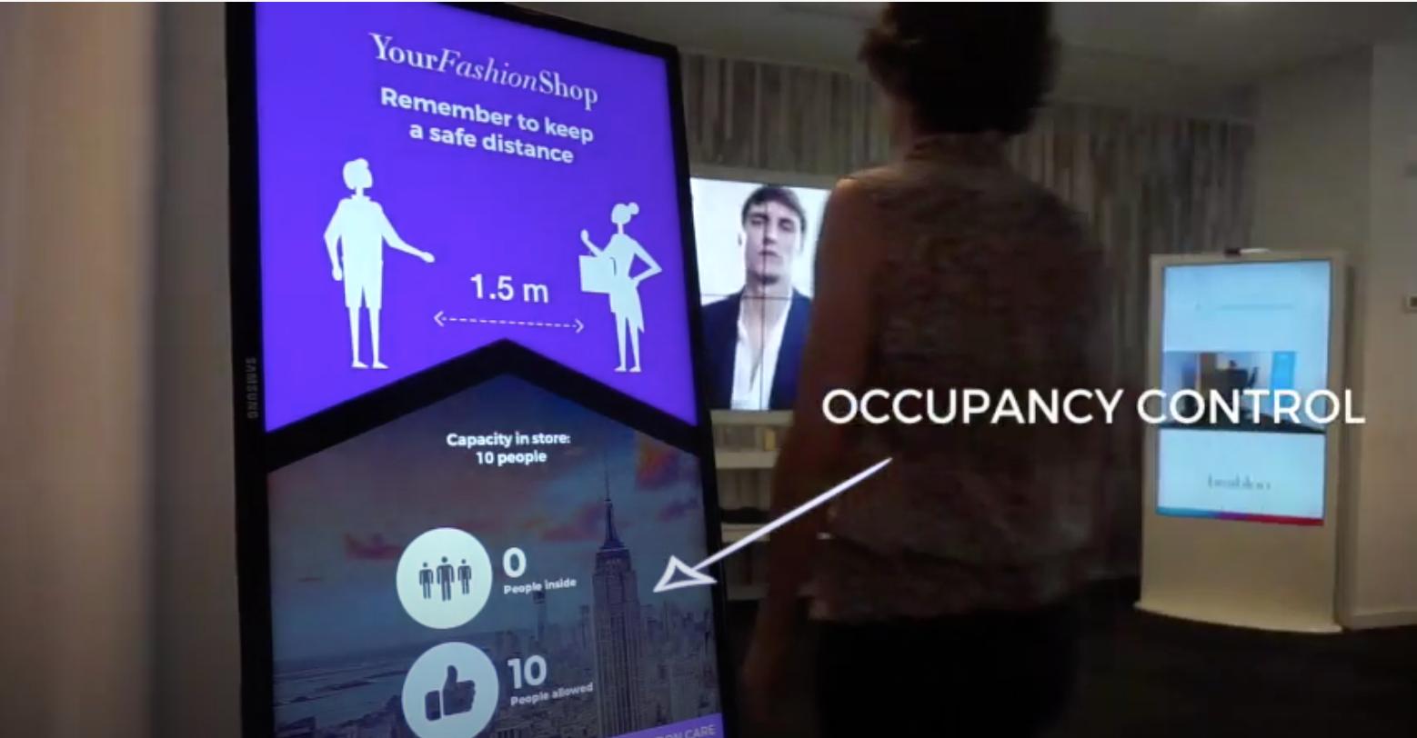 smart digital signage for occupancy control
