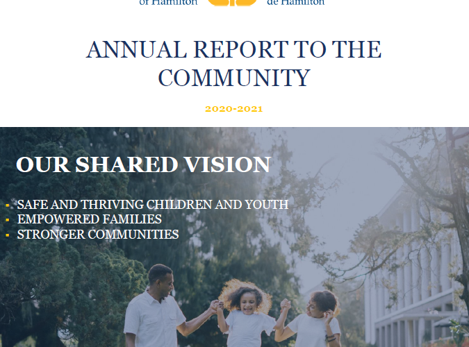 Catholic Children's Aid Society of Hamilton 2020-21 Annual Report