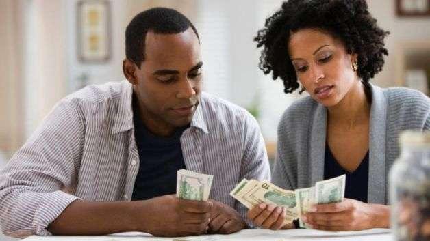 black-couple-money