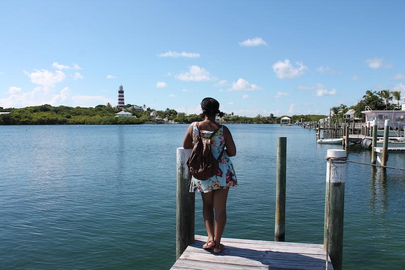 This Bahamian Gyal looking at lighthouse