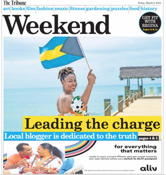 Rogan Smith aka This Bahamian Gyal Tribune Weekend magazine