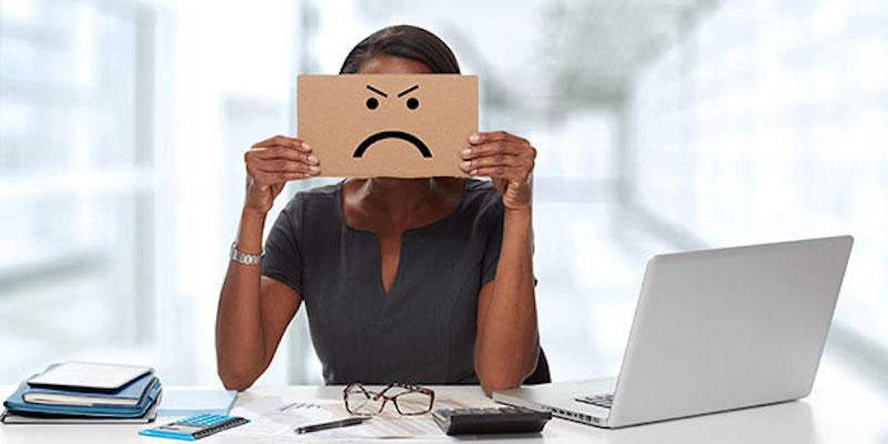 Unhappy worker
