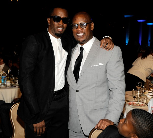 """Puff Daddy aka Sean """"P. Diddy"""" Combs and Andre Harrell."""