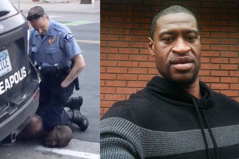 Ex-police officer, Derek Chauvin pins George Floyd to the ground with his knee. He kneeled on Floyd's neck for 8 minutes and 46 seconds.