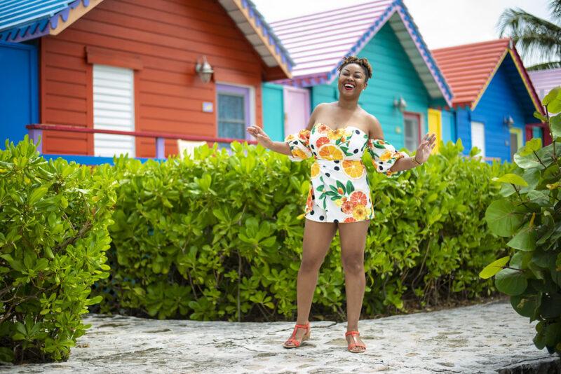Rogan Smith in front of Compass Point Resort, Nassau Bahamas