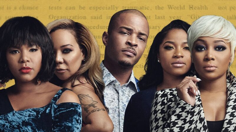 This photo shows the cast of the VH1 reality show, TI & Tiny: Friends & Family Hustle