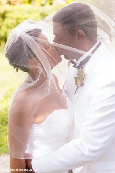 Rogan Smith, This Bahamian Gyal blogger on her wedding day.