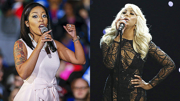 Singers and rivals, K. Michelle and Tamar Braxton.