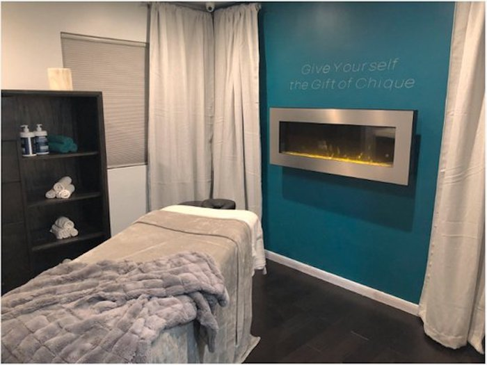 One of the massage rooms at Studio Chique (Photo/Studio Chique Facebook)