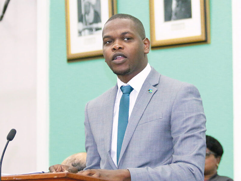 Bains and Grants Town Member of Parliament, Travis Robinson speaks in the House of Assembly. Photo/courtesy of The Nassau Guardian.
