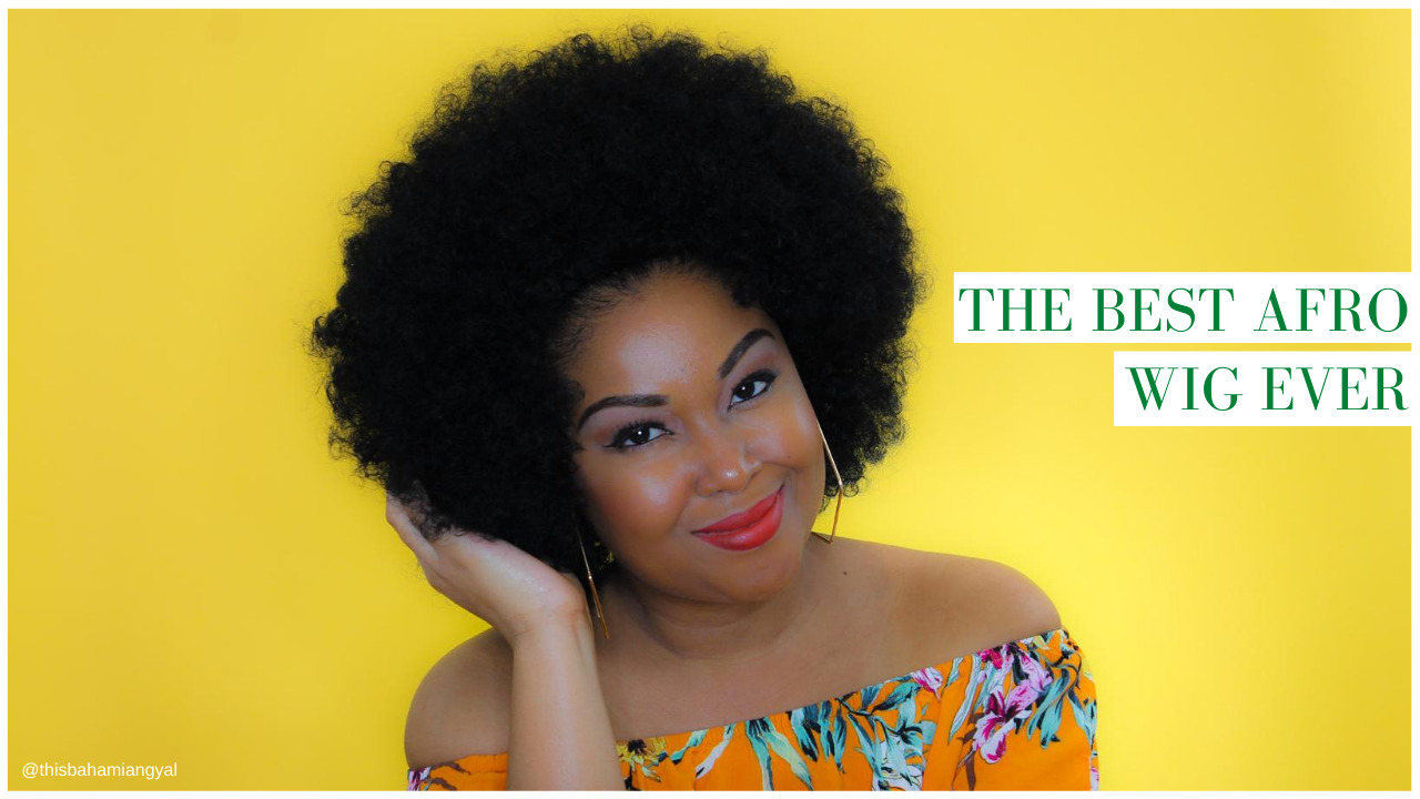 This Bahamian Gyal blogger Rogan Smith wears a BOSS afro wig in her YouTube video