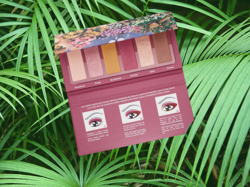 The Sephora Fresh Florals palette with yellow eyeshadows.