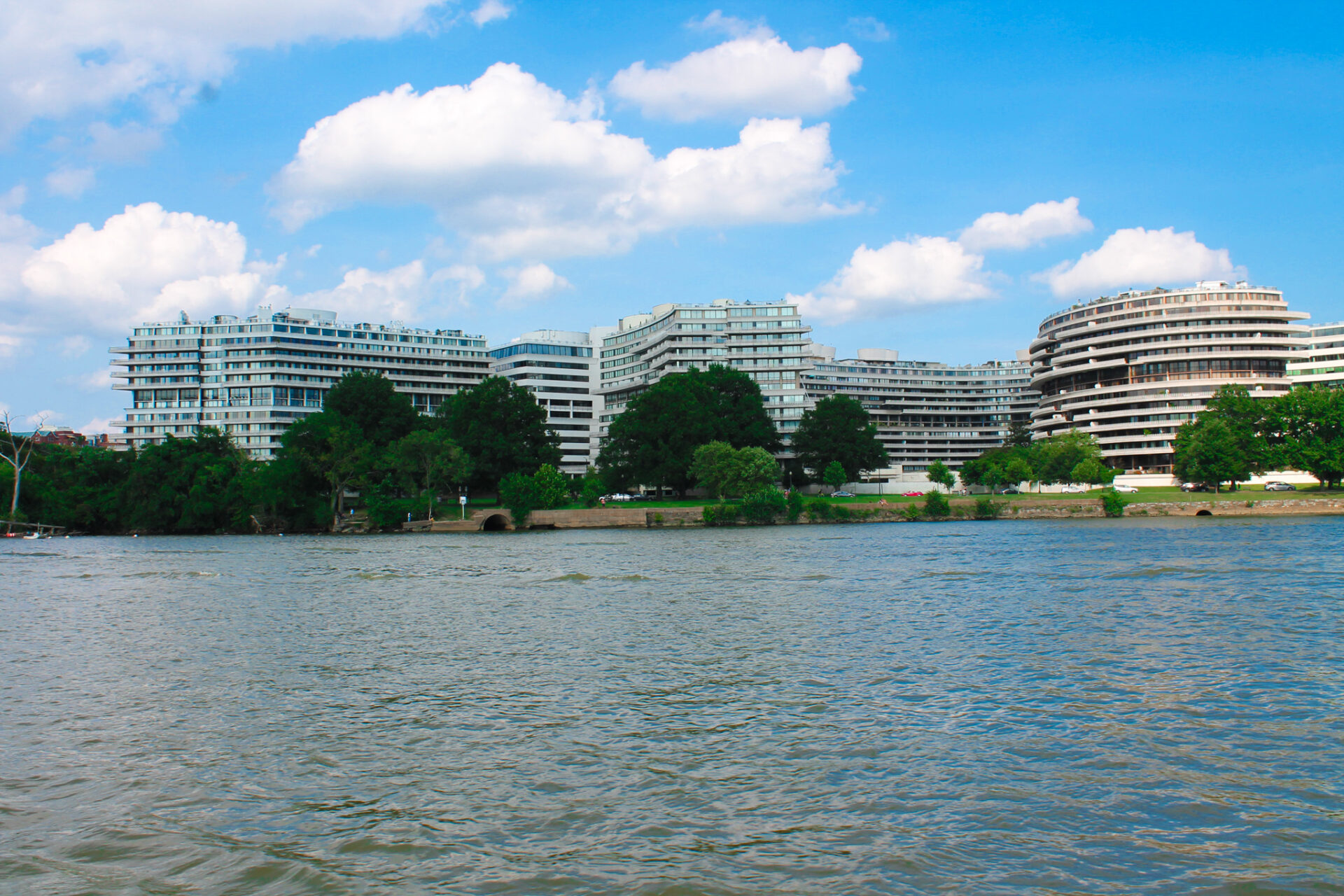 The iconic Watergate complex in Georgetown, DC.