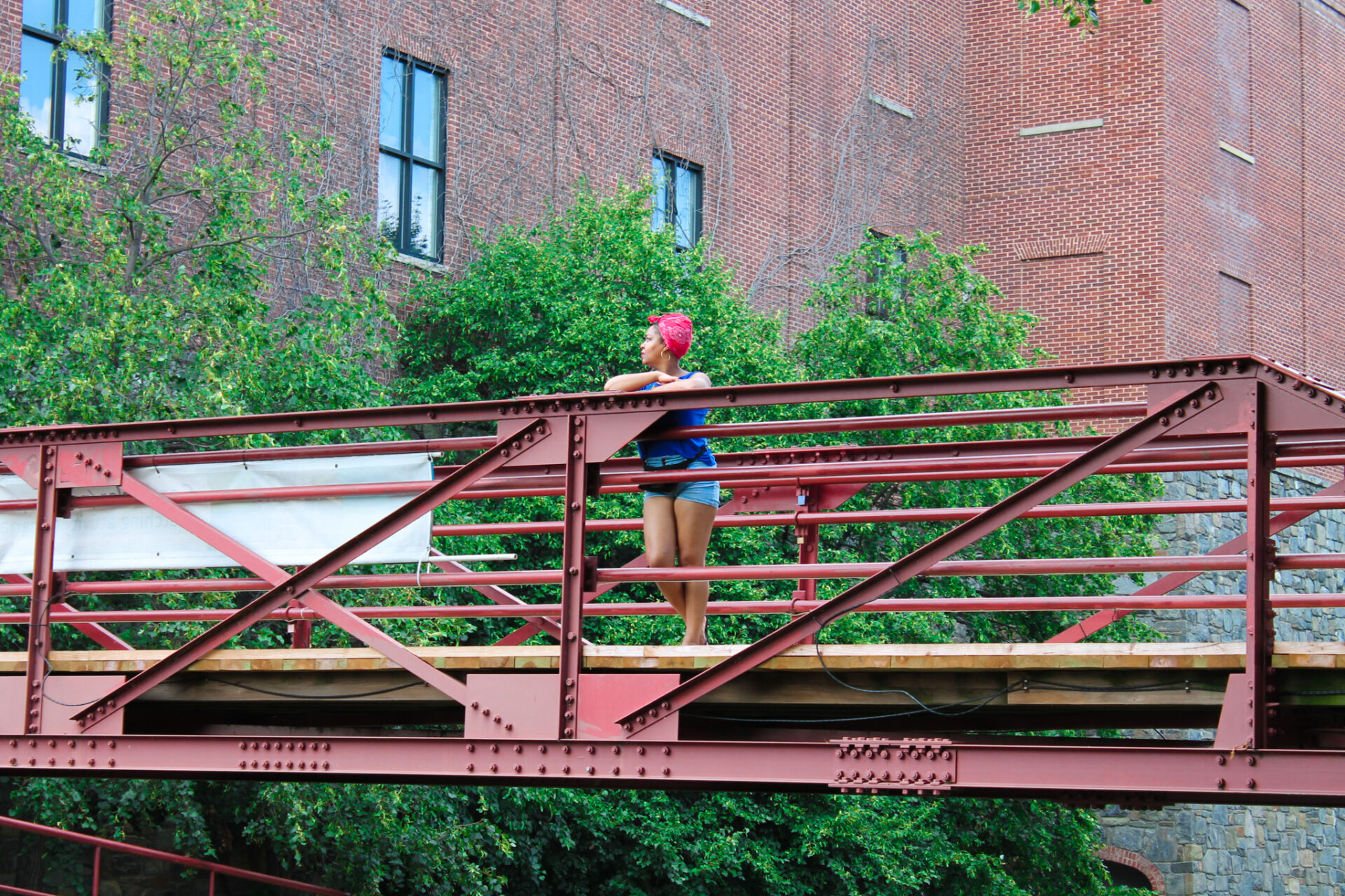 This Bahamian Gyal blogger, Rogan Smith overlooks the C&O Canal in Georgetown, DC.