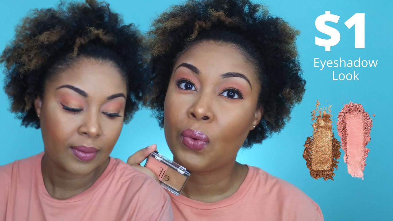 This Bahamian Gyal blogger, Rogan Smith wears a $1 ELF peach squad eyeshadow