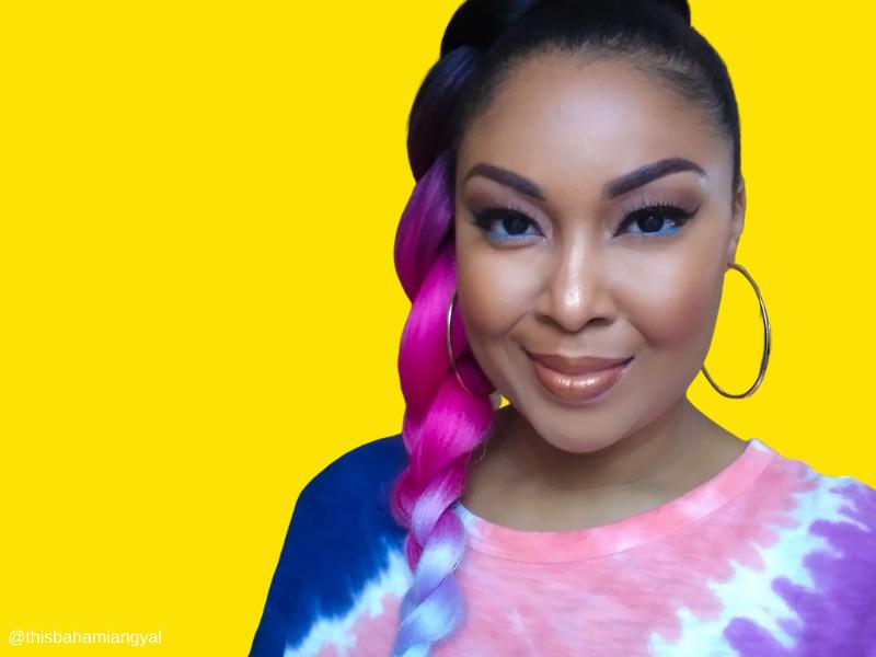 This Bahamian Gyal blogger, Rogan Smith wears jumbo braid ponytail hairstyle