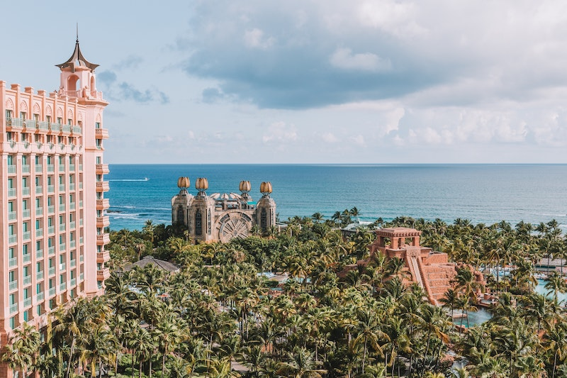 Image of Atlantis hotel on Paradise Island in The Bahamas.