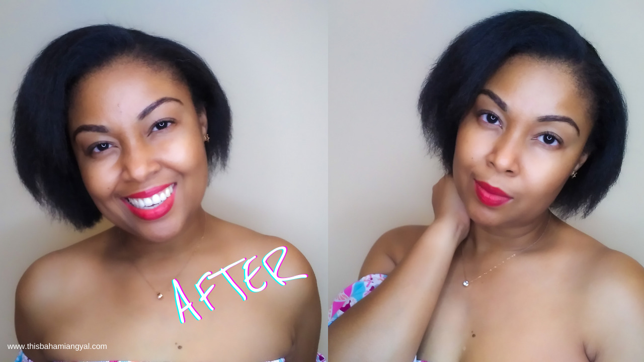 This Bahamian Gyal lifestyle and beauty blogger, Rogan Smith shows off her 4c hair following a silk press.