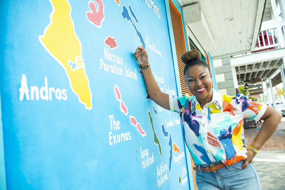 This Bahamian Gyal blogger, Rogan Smith poses in downtown Nassau, Bahamas.