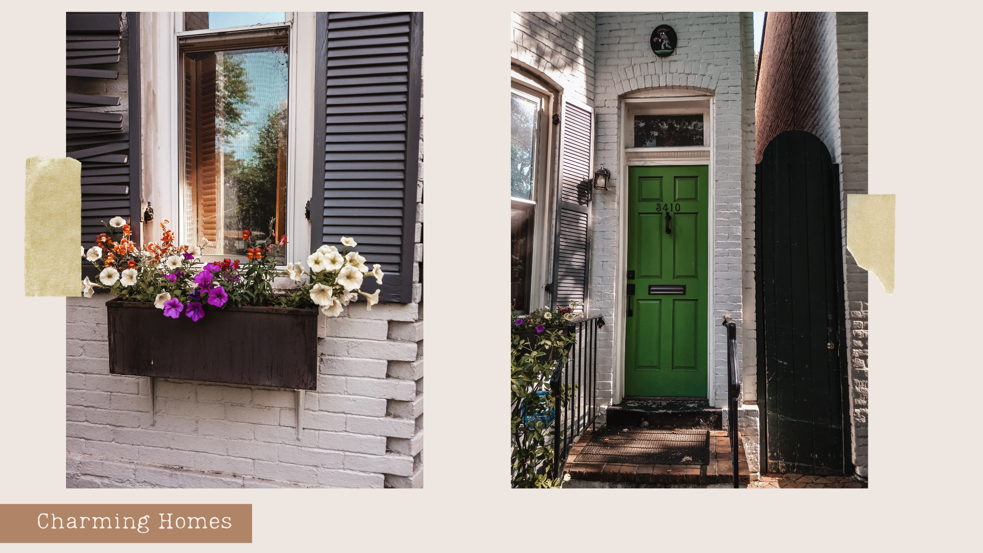 Image of homes in Georgetown DC, This Bahamian Gyal blog