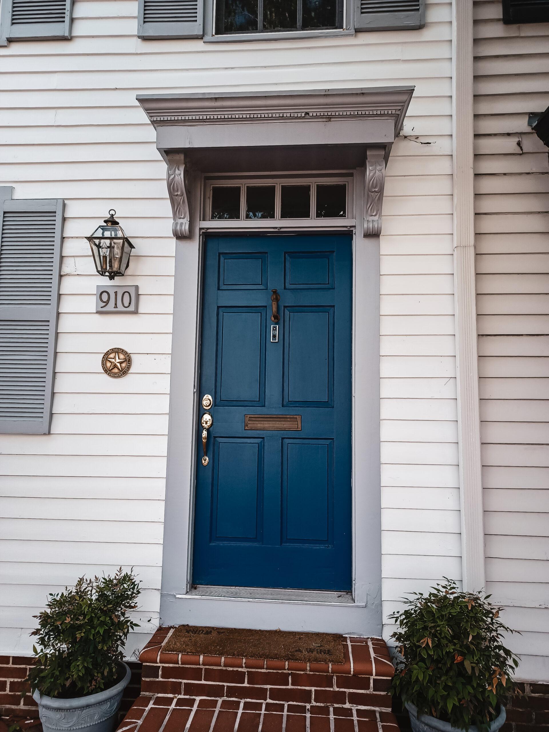 Alexandria Virginia home with blue door This Bahamian Gyal blog