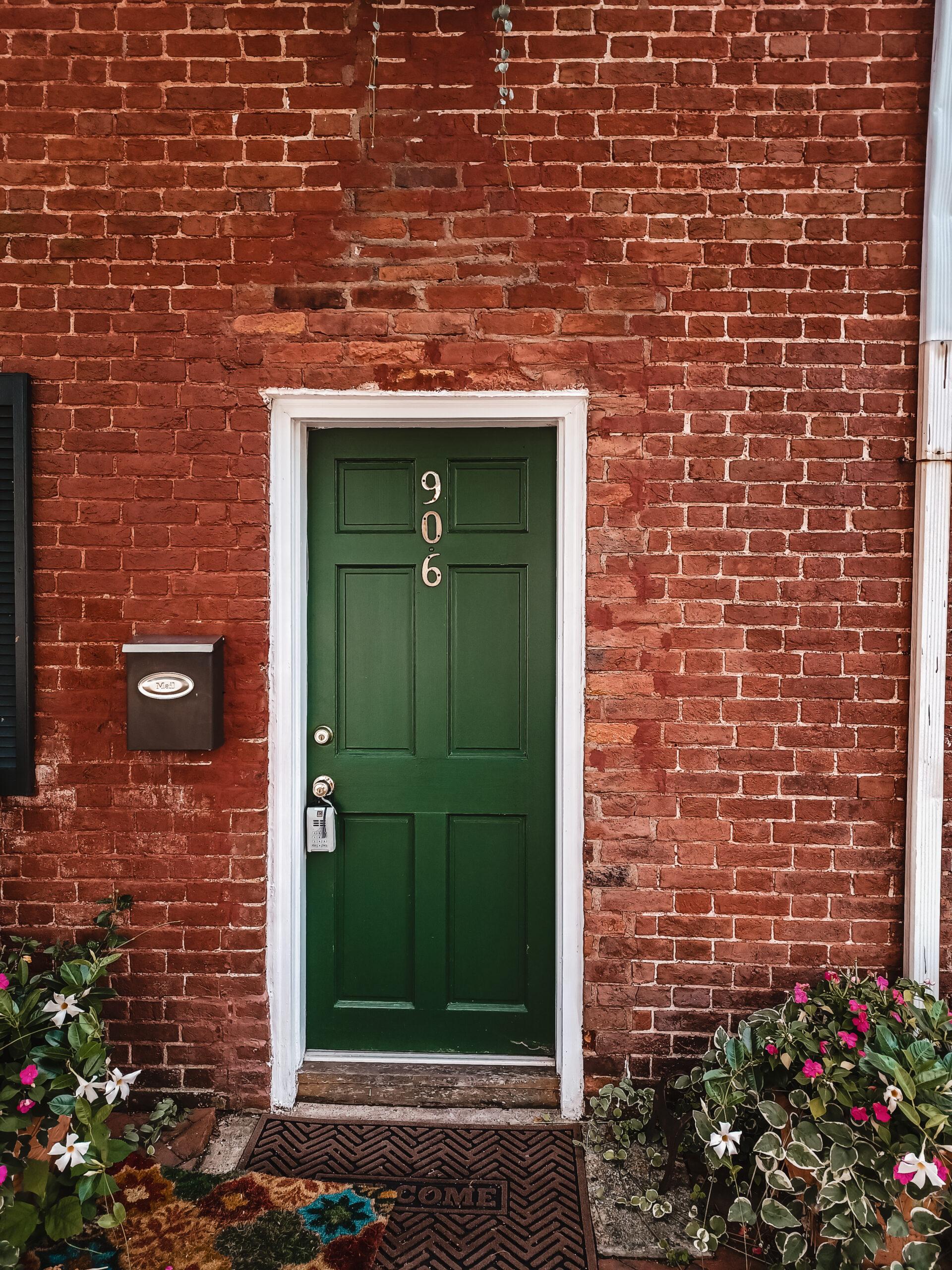 Alexandria Virginia home with green door