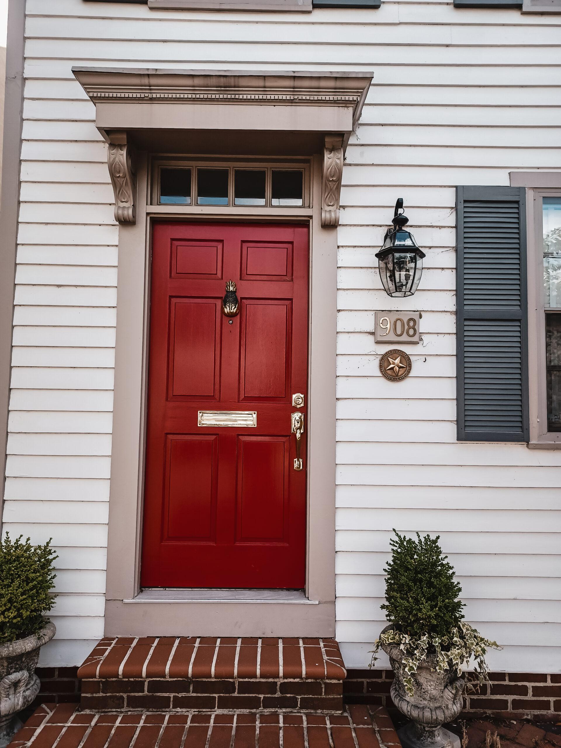 Alexandria Virginia home with red door